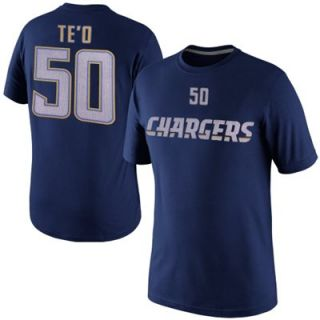 Nike Manti Teo San Diego Chargers Player Name And Number T Shirt   Navy Blue
