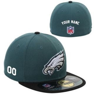 New Era Philadelphia Eagles Mens Customized On Field 59FIFTY Football Structured Fitted Hat