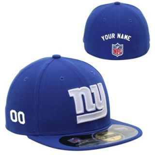 New Era New York Giants Mens Customized On Field 59FIFTY Football Structured Fitted Hat