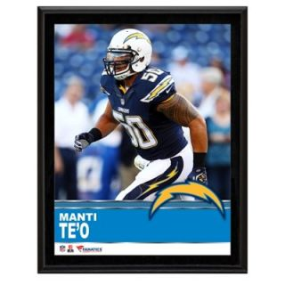 Manti Teo San Diego Chargers Sublimated 10.5 x 13 Plaque