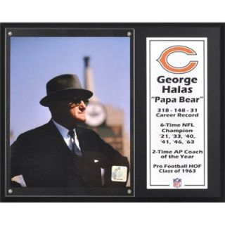 George Halas Chicago Bears Sublimated 12 x 15 Player Plaque