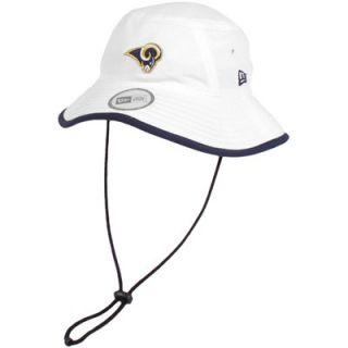 New Era St. Louis Rams Training Bucket Hat   White