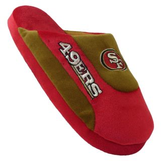 Comfy Feet NFL Low Pro Stripe Slippers   San Francisco 49ers   Mens Slippers