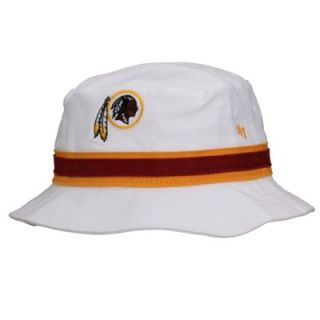 47 Brand Washington Redskins Bucket Hat   White