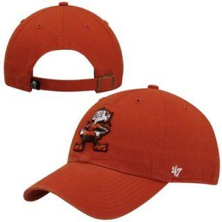 best website 3ccae 561b6 47 Brand Cleveland Browns Cleanup Primary Adjustable Hat Orange