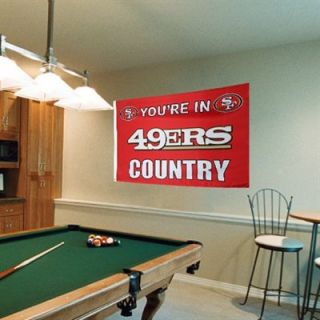 San Francisco 49ers 3 x 5 Team Country Double Sided Flag   Scarlet