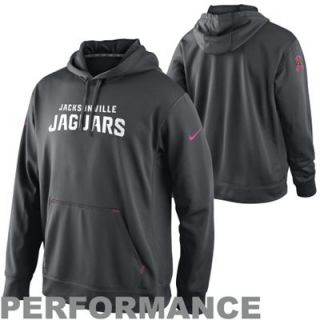 Nike Jacksonville Jaguars Breast Cancer Awareness Performance Pullover Hoodie   Charcoal