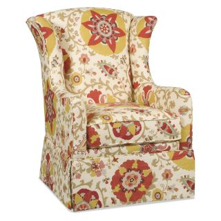 ... Sam Moore Micah Skirted Wing Chair Gardena Curry Upholstered Club Chairs  ...