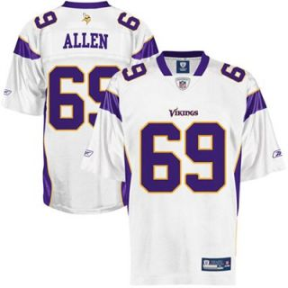 Reebok Jared Allen Minnesota Vikings Replica Jersey   White