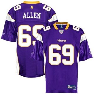 Reebok Jared Allen Minnesota Vikings Premier Tackle Twill Jersey   Purple