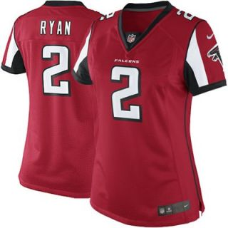 Nike Matt Ryan Atlanta Falcons Womens Limited Jersey   Red