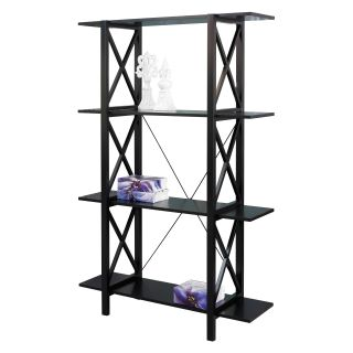 Linon Anna Double Bookcase   Antique Black   Bookcases