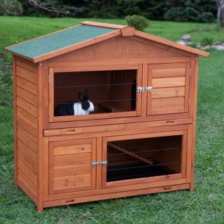 Boomer & George Double Decker Rabbit Hutch   Rabbit Cages & Hutches