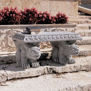 Blair Castle Sculptural Gargoyle Bench   Outdoor Benches