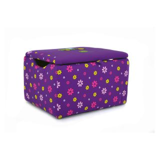 Kidz World John Deere Purple Girl's Upholstered Storage Box   Toy Storage