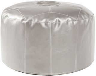 Howard Elliott Foot Pouf Shimmer Ottoman   Mercury   Ottomans