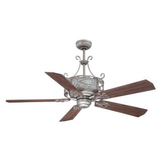 Ellington E DER54AN5CR Del Rey 54 in. Indoor Ceiling Fan   Antique Nickel   Ceiling Fans