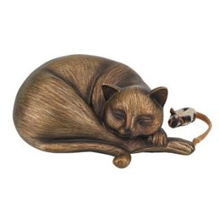 Curl up Kitten Sleeping Cat Statue   Garden Statues