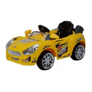 Premium Hot Racer Car #19   Yellow   Battery Powered Riding Toys