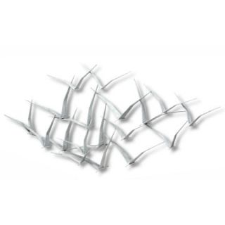 Fox Hill Trading Iron Werks Seagulls Metal Wall Sculpture   50W x 27.5H in.   Wall Sculptures and Panels