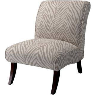 Janet Zebra Fabric Accent Chair   Gray   Accent Chairs