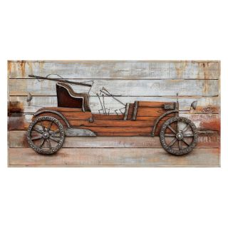 Yosemite Home Decor Classic Automobile Wall Art   39.5W x 20H in.   Hand Painted Art