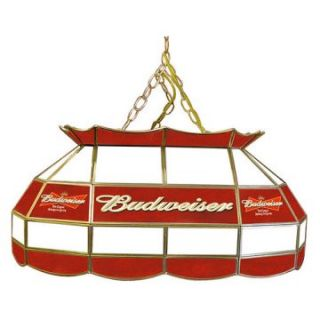 Budweiser Stained Glass 28 Inch Pool Table Light Lamp   Billiard Lights