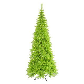 Vickerman Lime Slim Fir Pre lit Christmas Tree   Christmas Trees