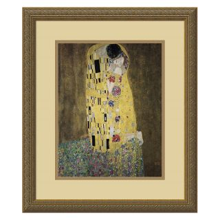 The Kiss (Le Baiser   Il Baccio), 1907 Framed Wall Art by Gustav Klimt   18.12W x 21.12H in.   Framed Wall Art