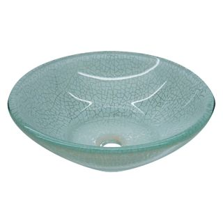 Yosemite Home Decor Haven Round Vessel Sink   Crackled   Bathroom Sinks