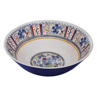 Le Cadeaux Rooster Blue Salad Bowl   Set of 2