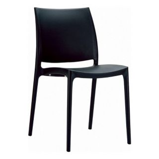 Compamia ISP025 BLA Maya Dining Chair   Black   Set of 2   Outdoor Dining Chairs