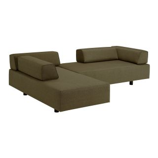 Lazar Calabasas Upholstered Sofa with Movable Bolster Back Supports   Sofas