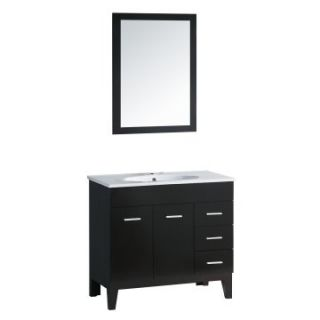 Yosemite Home Decor 35.5 in. Single Bathroom Vanity Set   Black   Single Sink Bathroom Vanities