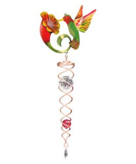 Iron Stop Design Hummingbird Crystal Twister   NTWC250 7M   Wind Spinners