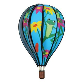 Premier Designs 22 in. Hot Air Balloon Frogs Wind Spinner   Wind Spinners