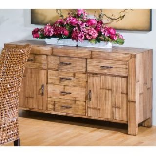 Hospitality Rattan Pegasus Indoor Rattan & Wicker Buffet   Natural   Dining Accent Furniture