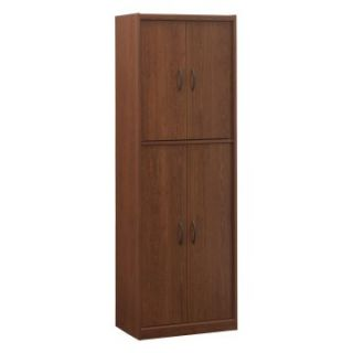 Ameriwood 4 Door Pantry Cabinet in Cherry   Pantry Cabinets