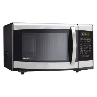 Danby DMW077BLSDD 0.7 cu. ft. Microwave Oven   Black with Stainless Steel   Microwave Ovens