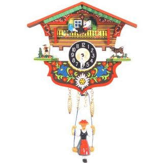 Two Children Teeter Totter, Herder and Milk Cow Cuckoo Clock   Cuckoo Clocks