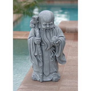Design Toscano 14.5 in. Shou Xin Gong: Chinese God of Longevity Statue   Sculptures & Figurines