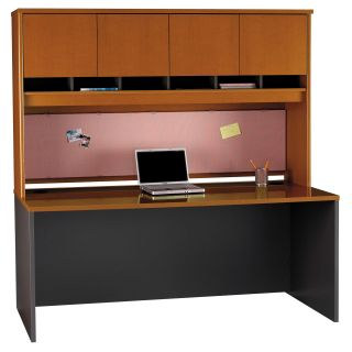 Bush Series C 72 Inch Credenza with 4 Door Hutch   Computer Desks