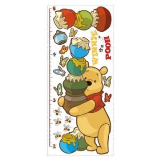 Winnie the Pooh   Pooh Peel and Stick Growth Chart   Kids and Nursery Wall Art