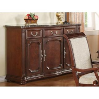 Granada Marble Top Dining Buffet   Dining Accent Furniture