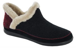 Harper Womens Bootie Slippers by Daniel Green   Black   Womens Slippers