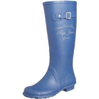 Pepe Jeans London Wet W 130 B, Damen Gummistiefel, blau, 38 EU / 5 UK Schuhe & Handtaschen