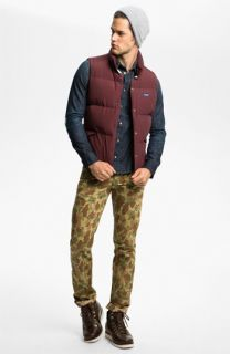 Penfield Vest, Nudie Shirt & Naked & Famous Denim Slim Straight Leg Pants
