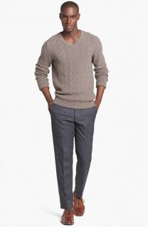 BOSS HUGO BOSS Mabry Sweater & Moods of Norway Vegard Flor Slim Fit Herringbone Pants