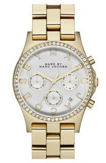 MARC BY MARC JACOBS Henry Chronograph & Crystal Topring Watch, 40mm