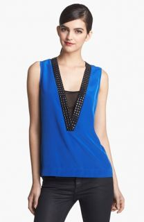 Robbi & Nikki Studded Neck Top